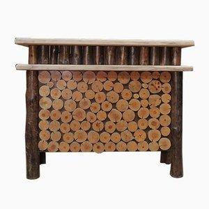 Mesa de bar vintage de madera, años 60