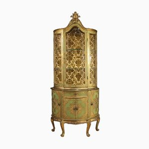 Florentine Lacquered and Gilded Display Cabinet, 1960s