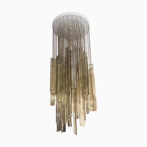 Light Brown Cascading Chandelier from Mazzega, 1970s