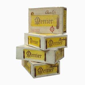 Chocolat Menier Cardboard Boxes, 1960s, Set of 4