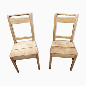 Antique Bistro Chairs, Set of 2