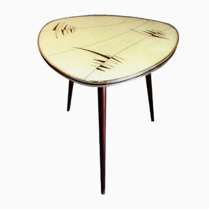 Mid-Century Glass Pattern Side Table, 1950s