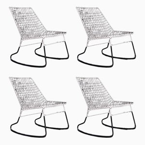 Rocking Chairs by Cees Braakman for Pastoe, 1960s, Set of 4