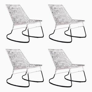 Rocking Chairs par Cees Braakman pour Pastoe, 1960s, Set de 4