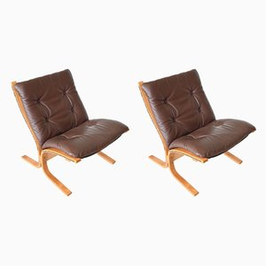 Siesta Low Back Chairs by Ingmar Relling for Westnofa, 1960s, Set of 2