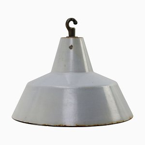 Vintage Industrial Gray Enamel Pendant Lamp from Philips, 1950s