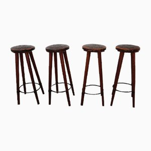 Mid-Century Bar Stools by Angel I. Pazmino, Set of 4