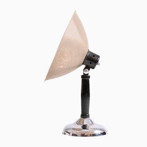Lampe de Bureau Vintage avec Bouclier Chromé, Tchécoslovaquie, 1920s