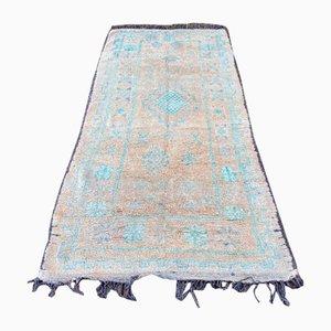 Großer Ockerbrauner Vintage Teppich