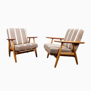 Cigar GE-240 Easy Chairs by Hans J. Wegner for Getama, 1960s, Set of 2