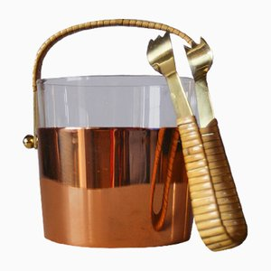 Ice Bucket Set by Gunnar Ander for Ystad-Metall, 1950s