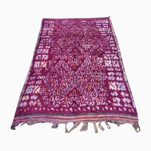 Tappeto grande bordeaux vintage rosso berbero