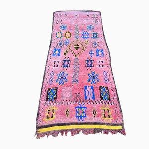 Alfombra bereber vintage grande en rosa