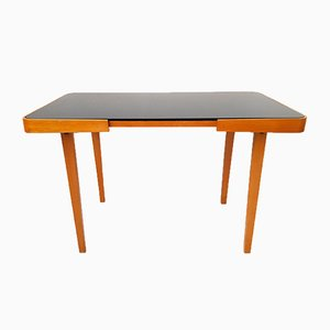 Mid-Century Black Opalite Coffee Table from Interier Praha, 1960s