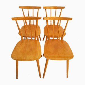 Mid-Century Dining Chairs from Tatra Pravenec, Set of 4, 1968