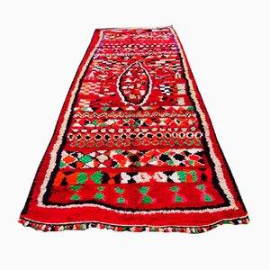 Alfombra bereber vintage grande en rojo