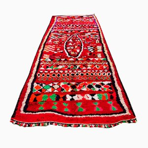Large Vintage Red Berber Carpet