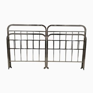 Art Deco Chrome Beds, 1940s, Set of 2