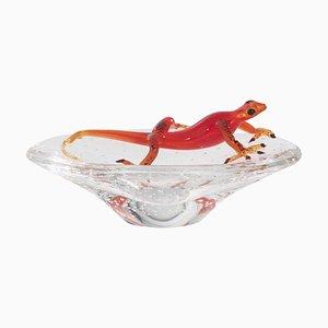 Glas Tablett mit Gecko von Vgnewtrend