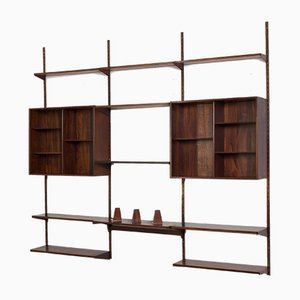 Rosewood Wall Unit by Kai Kristiansen for FM Møbler, Denmark, 1960s