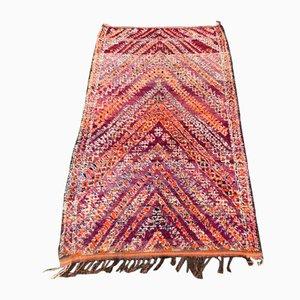 Tappeto grande vintage rosso berbero