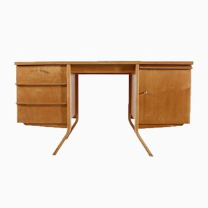 Birch Series Office Desk by Cees Braakman for Pastoe, 1950s