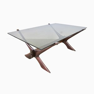 Orebro Condor Glass Coffee Table by Fredrik Schriever-Abeln for örebro glass, 1960s