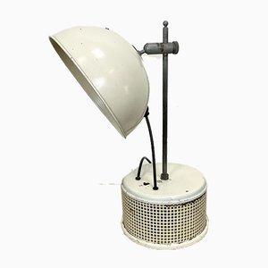 Lampada da tavolo industriale beige, anni '50
