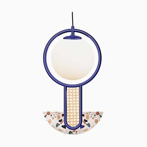 Semi Circular Terrazzo Frame II Suspension Lamp by Utu Soulful Lighting