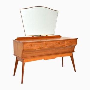 Vintage Walnut Dressing Table by Alfred Cox, 1950s