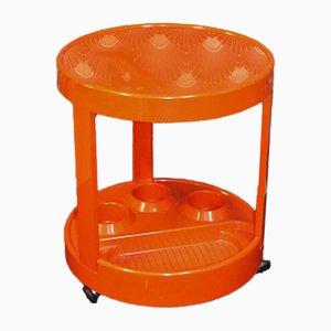 Vintage Orange Plastic Trolley