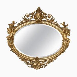 Specchio grande antico in legno dorato, Francia