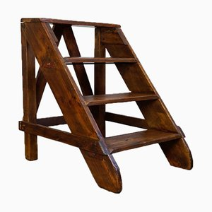 Industrial Wooden Ladder, 1930s