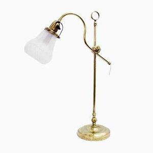 Lámpara de mesa vintage con cuello de cisne