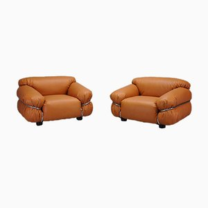 Sesann Lounge Chairs by Gianfranco Frattini for Cassina, 1970s, Set of 2
