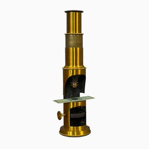 Vintage English Brass Scientist's Field Microscope