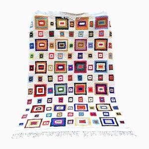 Alfombra bereber multicolores vintage
