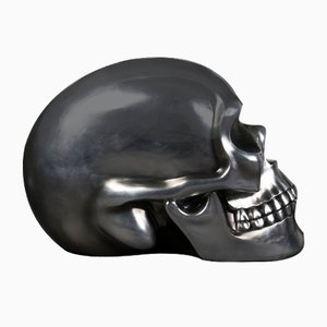 The Skull in Ceramic and Silver Soften Black from Vgnewtrend