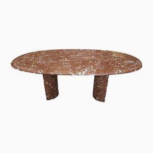 Tavolo da pranzo grande in marmo di Maison Charles, anni '70