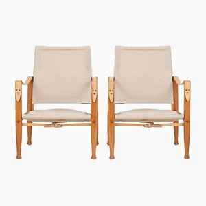 Safari Model 4700 Club Chairs by Kaare Klint for Rud. Rasmussen, 1960s, Set of 2