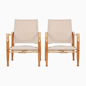 Safari Model 4700 Club Chairs by Kaare Klint for Rud. Rasmussen, 1960s, Set of 2