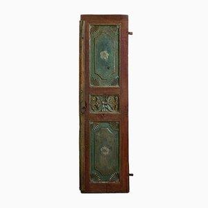 Porta antica intagliata e dipinta, India, inizio XX secolo