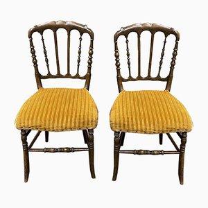 Napoleon III Esszimmerstühle aus Buche, 2er Set