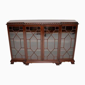 Chippendale Style Mahogany Breakfront Dwarf Bookcase, 1920s