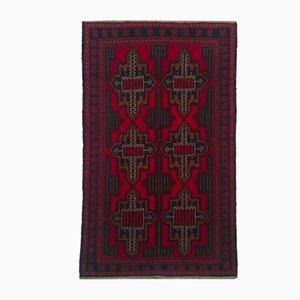Alfombra afgana Mid-Century, años 50