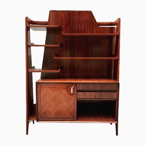 Italian Rosewood Shelf in the Style of Ico Parisi, 1940s