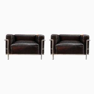 Italienische Modell LC3 Sessel von Le Corbusier für Cassina, 1960er, 2er Set