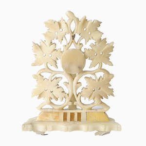 Antique Carved Alabaster Pocket Watch Stand
