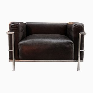Italian Model LC3 Lounge Chair by Le Corbusier for Cassina, 1960s