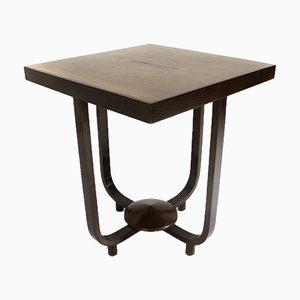 Tavolino da caffè quadrato in legno, anni '30